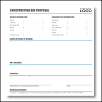 Construction Proposal Template 1