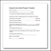 Construction Proposal Template 6