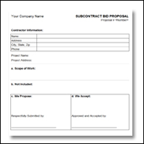 Construction Proposal Template 7