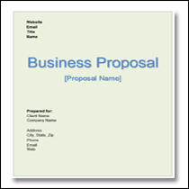 Marvelous Generic Business Proposal Template 1