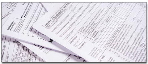 business and legal forms spead out