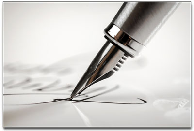pen writing a letter